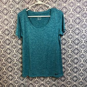 Nike Blue DriFit Scoop Neck Tee